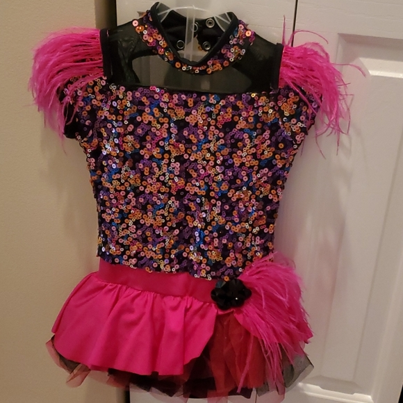 Colorful Pink and Black Jazz Costume